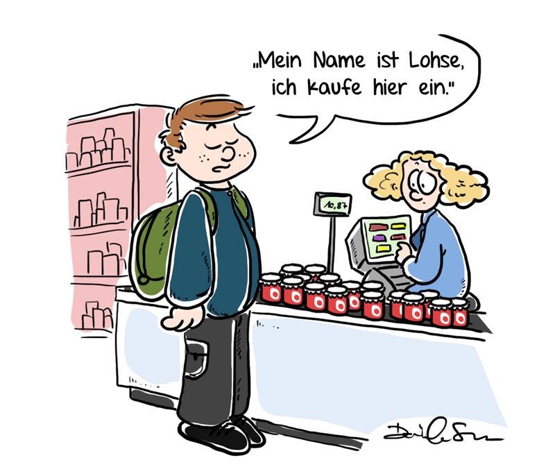 Loriot Comic von Fuchskind